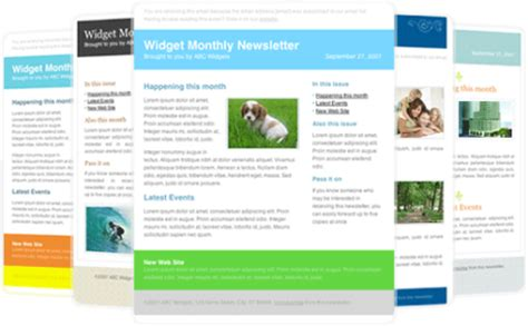 monthly email newsletter template choice image templates