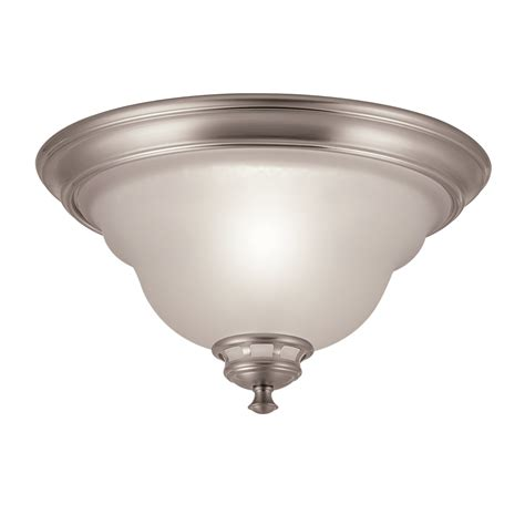 shop project source 13 in w brushed nickel ceiling flush