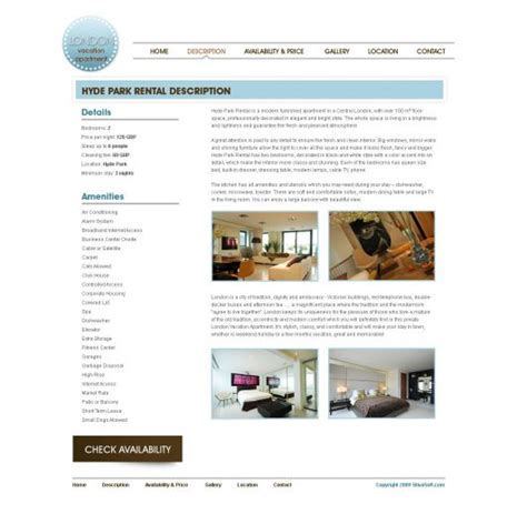 Vacation Rental Web Template 7 Free Website Templates Phpjabbers Vacation Rental Website Template
