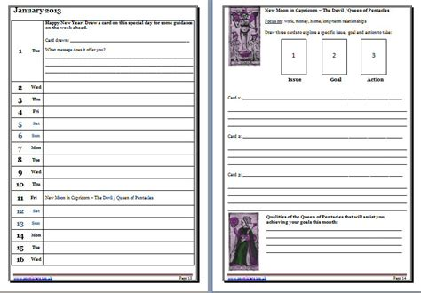 tarot card template for printing tarot journal jonika tarot
