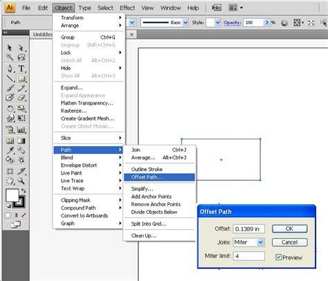 illustrator tutorial offset path crater high bis mr craft s portfolio