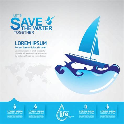 eps format save save water creative vector template 10 vector life free