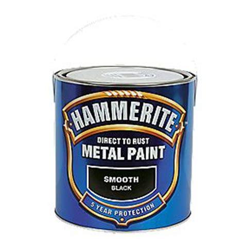 hammerite exterior metal paint hammerite smooth metal paint black 2 5ltr metal paints