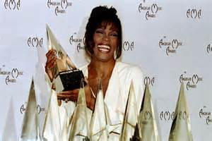 file whitney houston 21st american music awards february whitney houston shows off her american music awards abc