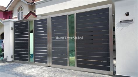 stainless steel gate auto gate malaysia aluminium gate kl stainless steel gate
