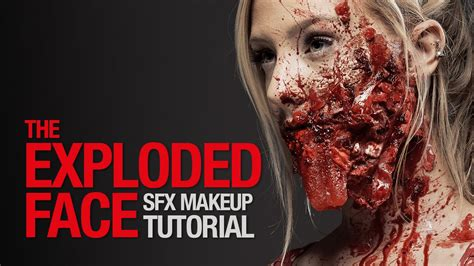 makeup tutorial two face exploded face special fx makeup tutorial youtube