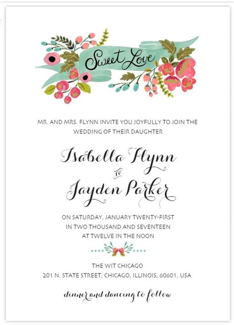 490 Free Wedding Invitation Templates You Can Customize Free Wedding Invitation Templates