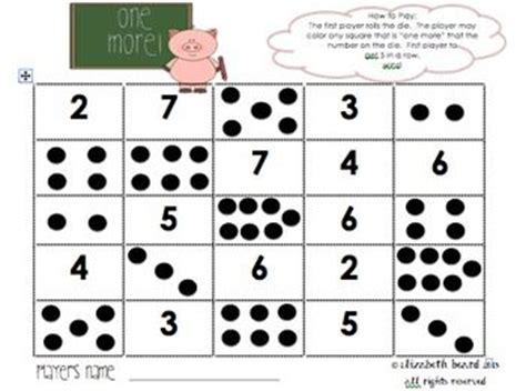 printable dice games for kindergarten kindergarten dice games school pinterest