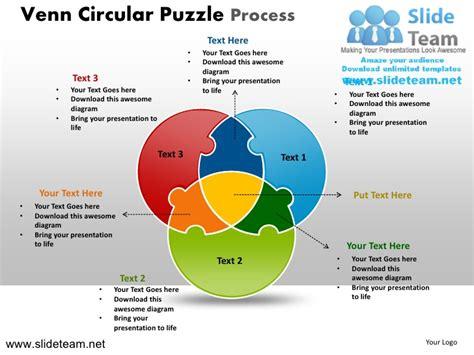 Venn Cycle Circular Round Jigsaw Maze Piece Puzzle Strategy Powerpoin Jigsaw Strategy Template