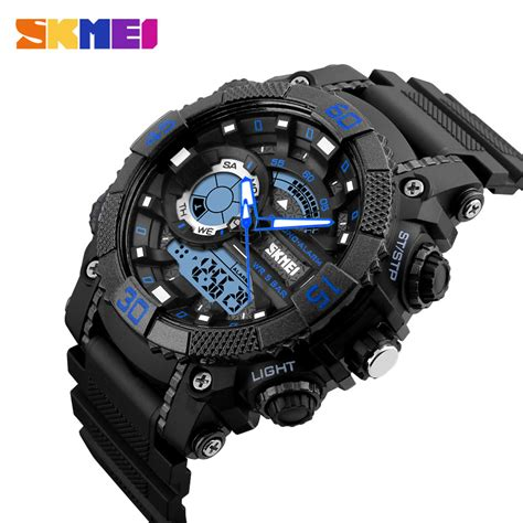 Skmei Jam Tangan Analog Digital Black Blue Ad1204 skmei jam tangan analog digital pria ad1228 black blue jakartanotebook