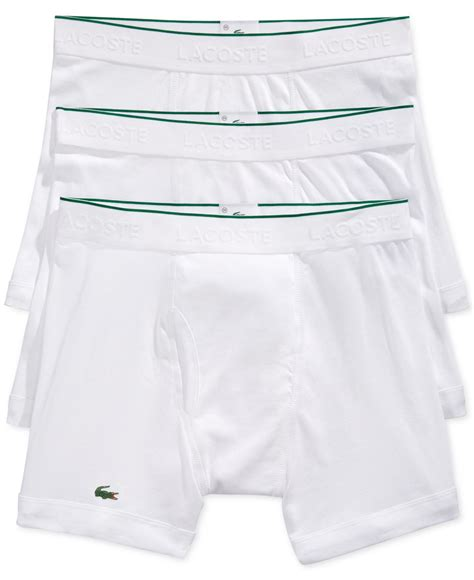 Lacoste Pouch By Miss Hollabag lacoste s boxer briefs 3 pack in white for