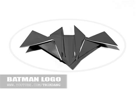 How To Make A Paper Batman - how to make an origami batman logo