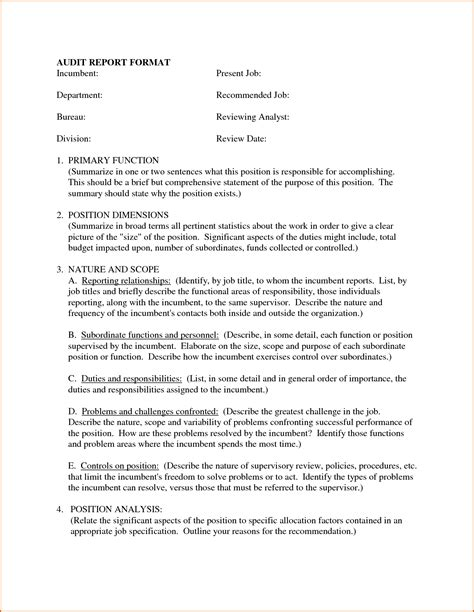 template for report writing sle 5 business report format authorizationletters org