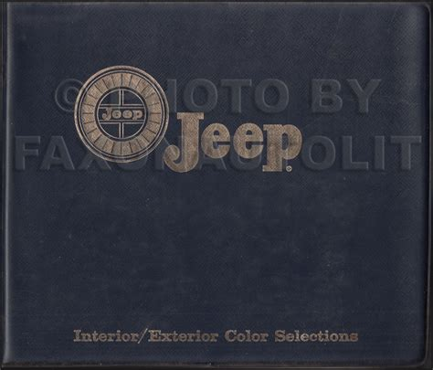 auto upholstery books 1966 jeep color and upholstery book original