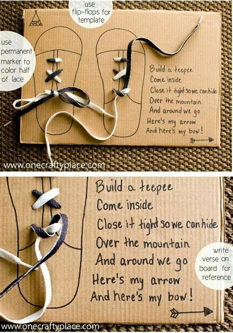learning to tie shoe laces board kid ideas