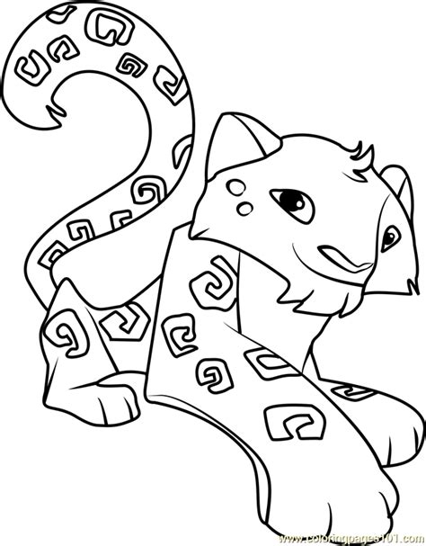 coloring pages of animal jam snow leopard animal jam coloring page free animal jam