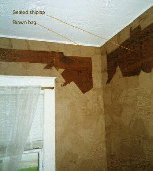 brown paper bagging walls
