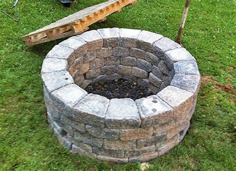 how to build a firepit in the ground build your own outdoor pit planitdiy
