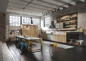 loft kitchen design industiral and rustic loft kitchen by snaidero digsdigs