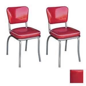 Retro Chrome Dining Chairs Shop Richardson Seating 50 S Retro Chrome Stackable Dining Chair At Lowes