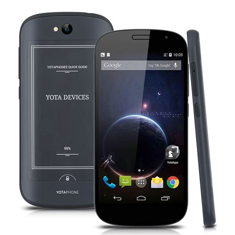 mobile phone 4g yotaphone 2 yd206 32gb display android