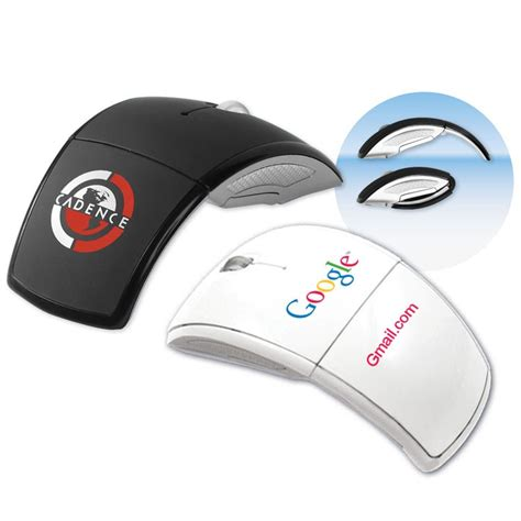 Mouse Wireles Branded S01 custom folding wireless mouse a sleek branded business gift
