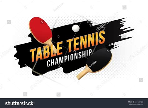 Table Tennis Chionship by Table Tennis Chionship Design Table Stock Vector