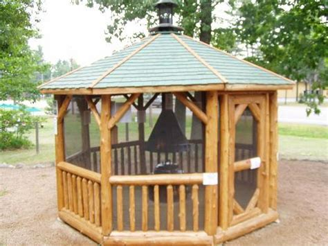 pit gazebo plans shown 12 log gazebo with optional quot gazebeque quot a