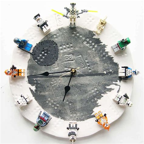 Star Wars Chess Sets by Diy Lego Star Wars Clock With Interchangeable Minifigs