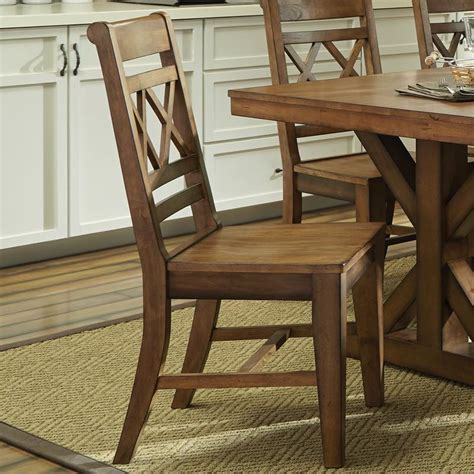 Dining Room Chairs Pecan Finish X Back Dining Chair Free Shipping