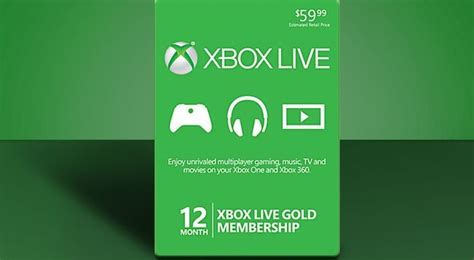 Xbox Live Membership Gift Card - last minute gift ideas for the xbox gamer
