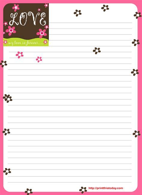 hojas para escribir cartas hojas con dise 241 o para escribir cartas imagui