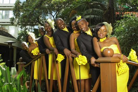 Wedding In Kenya by Kenya Themed Weddings Yellow Weddings Yellow Bridal Wear