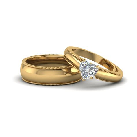 wedding rings with bands matching wedding bands for him and fascinating diamonds