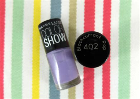 Cat Kuku Maybelline coba dan review maybelline color show blackcurrant pop