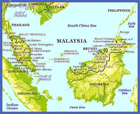 where is malaysia on a world map malaysia map toursmaps