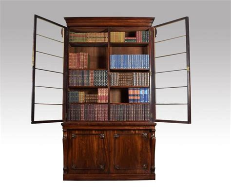 rosewood two door library bookcase for sale at 1stdibs