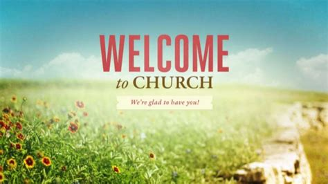 welcome message for church bulletin
