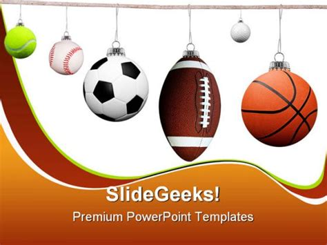 powerpoint templates sports balls sports powerpoint backgrounds and templates 1210