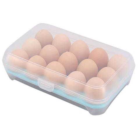 Plastic Storage Box Holder plastic refrigerator eggs storage box 15 eggs holder