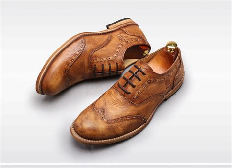 vintage mens oxford shoes vintage oxford shoes genuine leather toe