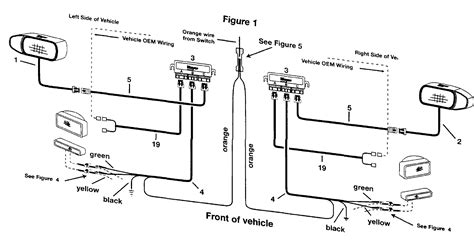 western snowplow headlight wiring diagram schematics and