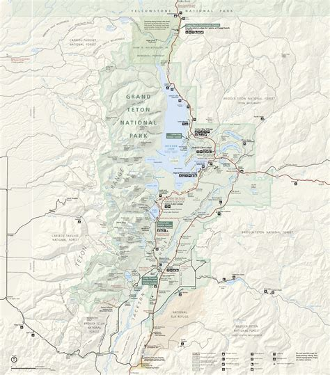 grand teton national park map grand teton maps npmaps just free maps period