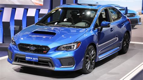 2018 subaru wrx and sti pack improved tech into fresh