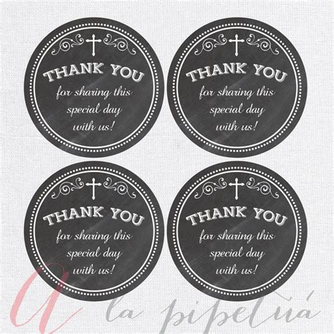 printable thank you tags for baptism thank you favor tags baptism chalkboard tags chalkboard