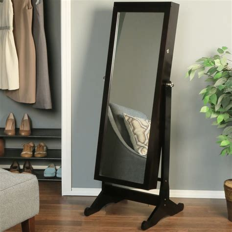 free standing mirror and jewelry cabinet bar cabinet