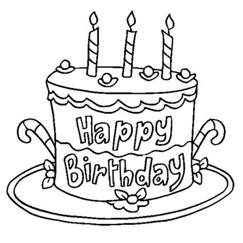 coloring page for birthday cake coloring page birthday party cake coloring pages