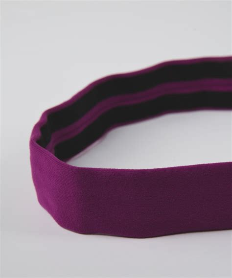 lululemon patterned headbands lululemon skinny fly away tamer headband regal plum