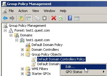 policy management console domain time ii installation active directory policies