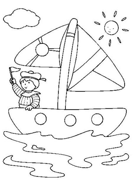 barco animado blanco y negro velero con marinero dibujalia dibujos para colorear